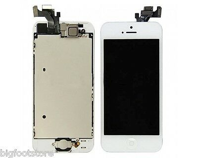 White Apple Iphone 5 Full Lcd/digitizer W/button/camera A...