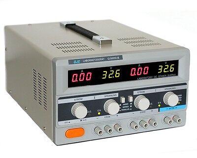 Doppel Labornetzgerät 0-30V 5A Labornetzteil Netzgerät Trafo regelbares Netzteil