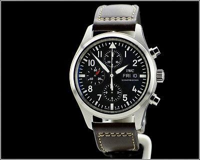 Men's IWC Schaffhausen Fliegeruhr Flieger Pilot Automatic Chronograph Watch