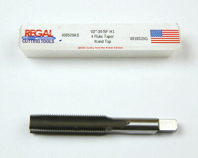 1//2-20 4 FL GH6 Hand Bright  HSS Plug Tap  Rieff /& Nestor Brand 1pc