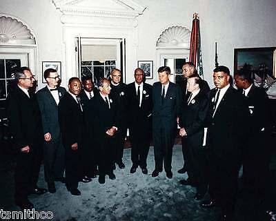 John F. Kennedy JFK with Martin Luther King Jr President 8x10 Photo 027