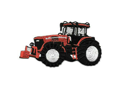 Used, Farm Tractor - Farm Equipment - Red - Farmer - Embroidered Iron On Patch - Left for sale  Shipping to India