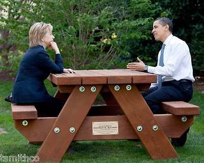 Barack Obama Hillary Clinton President 8x10 Photo 007