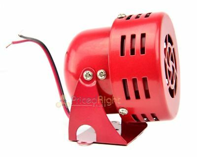 12V Air Raid Siren Car Truck Vintage 50's Style Electric Alarm Fire Safety Horn