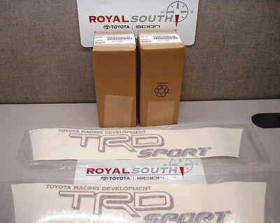 Toyota Tacoma TRD White Sport Decal Emblem Sticker Kit Genuine OE OEM