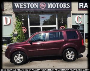2010 Honda Pilot EX-L*AWD*LEATHER*SUNROOF*REVERSE CAM!!*