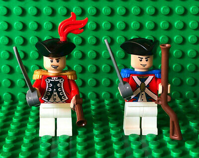 Lego Pirates of the Caribbean KING GEORGE'S SOLDIER OFFICER MINIFIGURES Weapons
