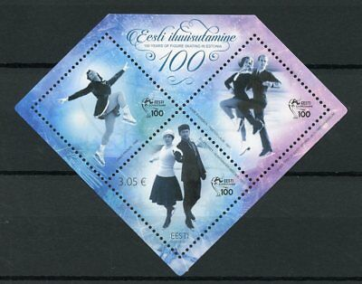 Estonia 2017 MNH Estonian Ice Figure Skating 100 Years 1v M/S Sports Stamps