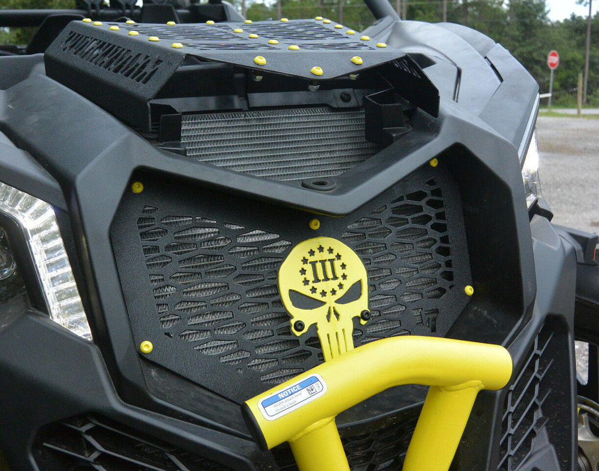 Black / Yellow Punisher 3 Percent Grill / Grille Can-Am Maverick X3 XRS XDS XMR