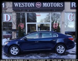 2010 Buick LaCrosse CX* WOW!! LOW KMS* FULLY LOADED