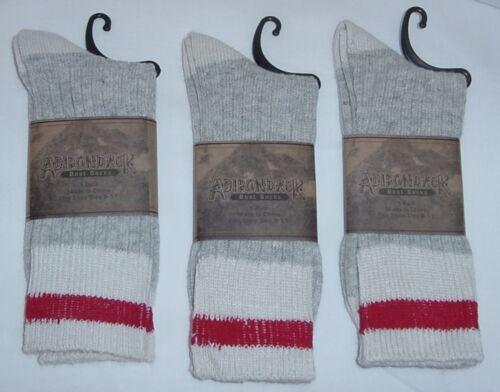 3 Pair New Adirondack Lightweight Wool Blend Boot/Hiking/Firemen Socks 8-11