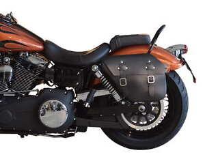 Leather Saddlebag Harley Davidson Dyna Sport, Wide Glide, Fat Bob, Street Bob