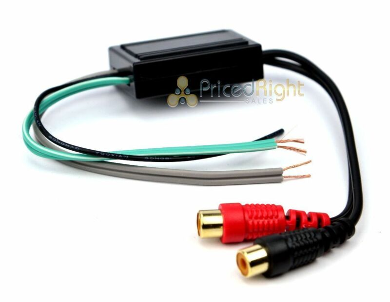 NEW Speaker to 2 RCA Line Output Converter IN / OUT High / Low
