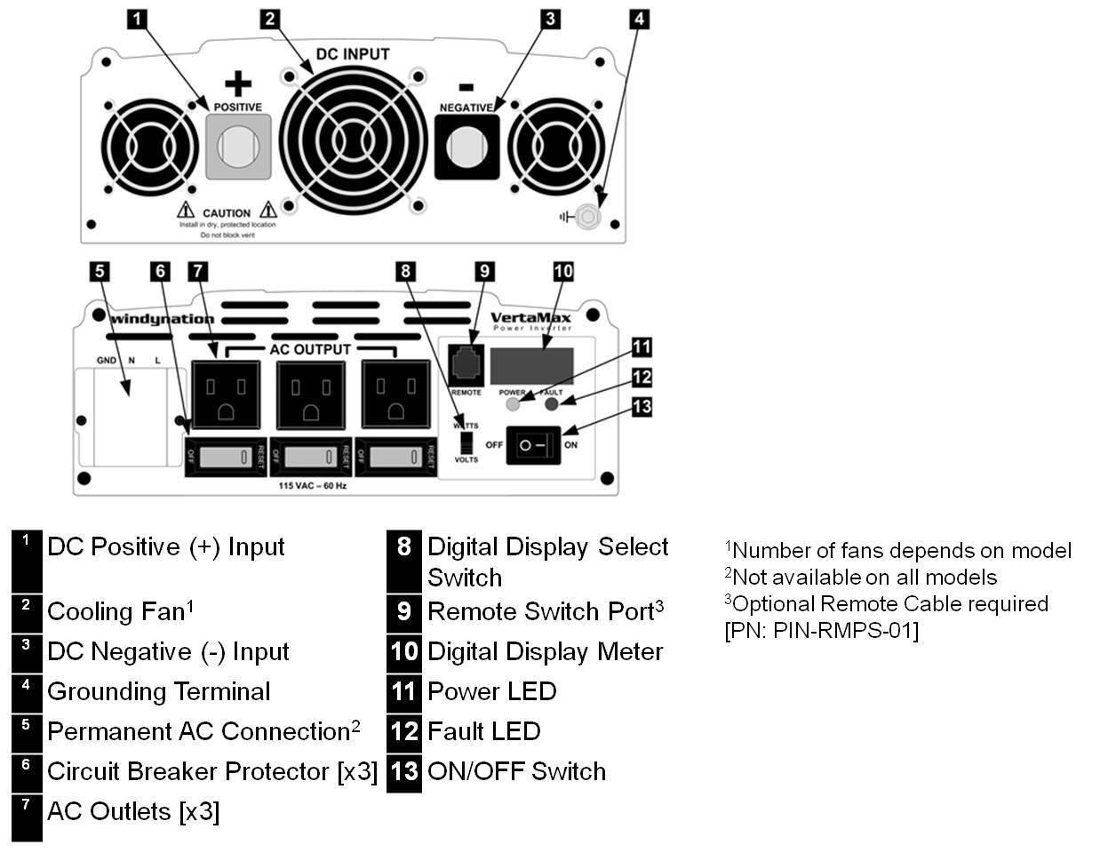 Vertamax 1500 Watt Pure Sine Wave Power Inverter Dc To Ac Car Rv W On 5000w Schematic 4 Of 6