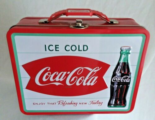"COCA-COLA TIN LUNCH BOX ICE COLD DRINK ""ENJOY THAT REFRESHING NEW FEELING"""