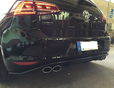 golf 7 gtd sport exhaust exhaust gti vw muffler vii tail. Black Bedroom Furniture Sets. Home Design Ideas