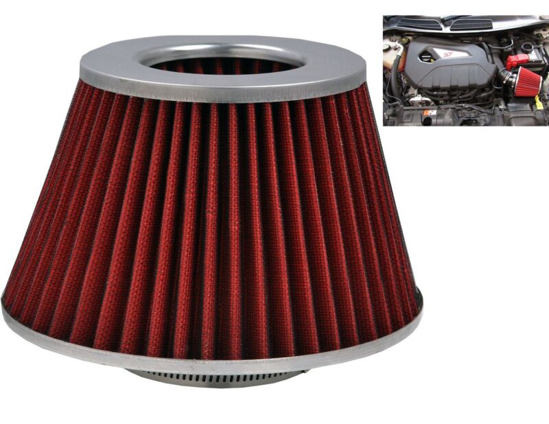 Red Grey Induction Kit Cone Air Filter Lexus GS 1997-2016