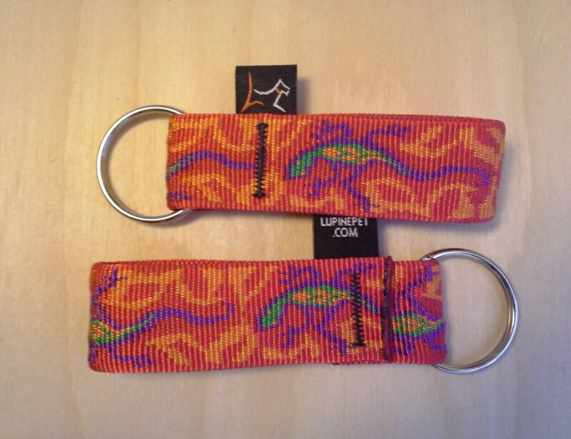 "Lupinepet 1""W Key Ring/Keychain.Made in USA! 15+ Various Multi color fabric."