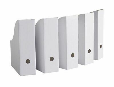IKEA Magazine Storage Holder File White New 5 Pack  FLYT