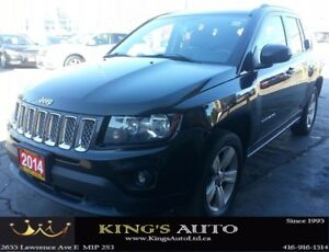 2014 Jeep Compass NORTH SPORT UTILITY, 4X4, LEATHER, TRACTION