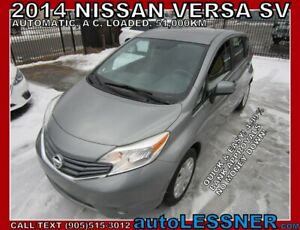 2014 Nissan Versa Note SV -ZERO DOWN, $180 for 60 months FINANCE