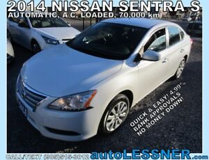 2014 Nissan Sentra -ZERO DOWN, $192 for 60 months FINANCE TO OWN