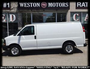 2013 GMC Savana 3500 SHELVING*A/C*READY FOR WORK!!*