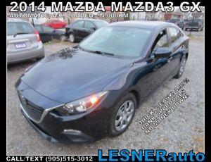 2014 Mazda MAZDA3 -ZERO DOWN, $199 for 60 months FINANCE TO OWN!