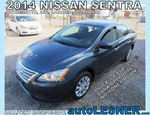 2014 Nissan Sentra -ZERO DOWN, $182 for 60 months FINANCE TO OWN