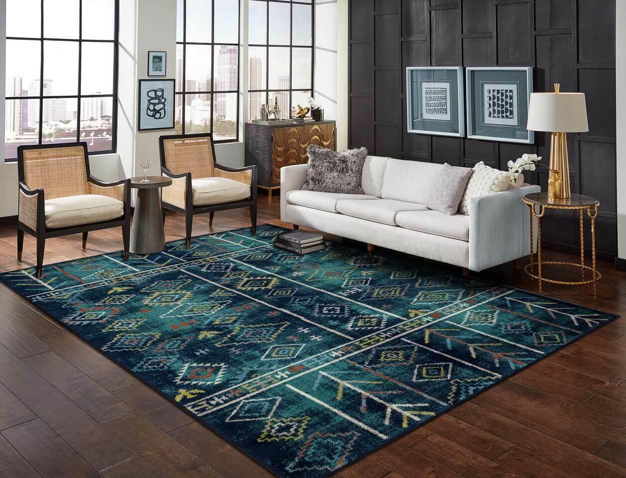 Modern Area Rugs 8×10 Living Room Rugs 8×11 MultiColor Floor Carpet 5×7 Area Rugs