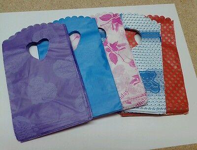 - 40PC Cute Multi Color MINI Plastic Bag Party Favor Gift Craft goody Bag 9x14cm