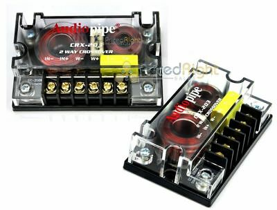 2 Audiopipe Passive 2 Way Car Audio Crossover / Two-Way Speaker and Tweeter 300W