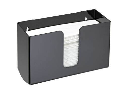 Alpine Industries Black Wall Mounted Paper Towel Dispenser Paper Napkin Holder