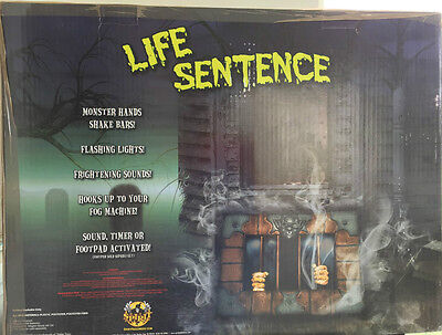 NEW LIFE SENTENCE SPIRIT HALLOWEEN ANIMATED PROP/ RARE SOLD OUT