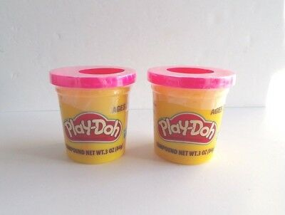 Pink PLAY-DOH Modeling Clay Compound, TWO 3 oz Cans  (6 oz total)  HOT PINK