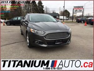 2015 Ford Fusion SE+2.0L EcoBoost+Camera+GPS+Remote Start+Heated