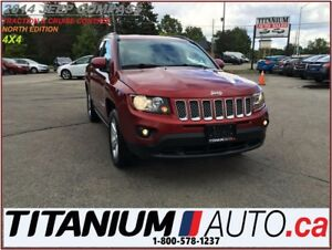 2014 Jeep Compass NORTH+4X4+Leather+Cruise+New Tires & Brakes+Fo