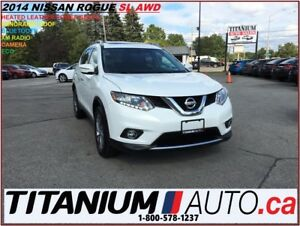 2014 Nissan Rogue SL+AWD+Camera+Pano Roof+Leather Heated Seats+X