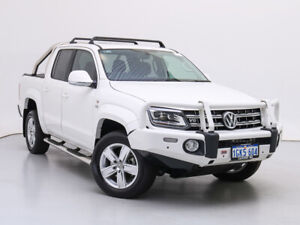 2017 Volkswagen Amarok 2H MY18 V6 TDI 550 Highline White 8 Speed Automatic Dual Cab Utility Jandakot Cockburn Area Preview