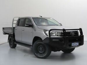 2015 Toyota Hilux GUN126R SR (4x4) Silver 6 Speed Automatic Dual Cab Chassis