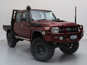 2020 Toyota Landcruiser VDJ79R GXL (4x4) Burgundy 5 Speed Manual Double Cab Chassis