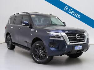 2020 Nissan Patrol Y62 Series 5 MY20 TI (4x4) Blue 7 Speed Automatic Wagon