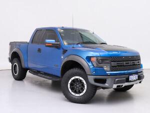 2013 Ford F150 SVT Raptor Blue 6 Speed Automatic Super Cab Utility