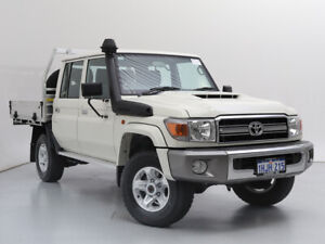 2021 Toyota Landcruiser 70 Series VDJ79R GXL White 5 Speed Manual Double Cab Chassis