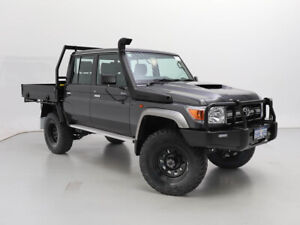 2021 Toyota Landcruiser 70 Series VDJ79R GXL Graphite 5 Speed Manual Double Cab Chassis