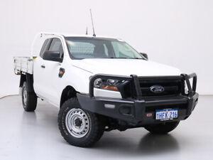 2017 Ford Ranger PX MkII MY17 XL 3.2 (4x4) White 6 Speed Manual Super Cab Chassis