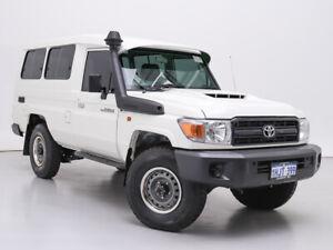 2021 Toyota Landcruiser 70 Series VDJ78R Workmate Troop Carrier White 5 Speed Manual Wagon