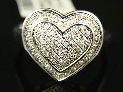 Ladies Womens Xl Double Heart Fashion/designer  Ring .75 on Sale