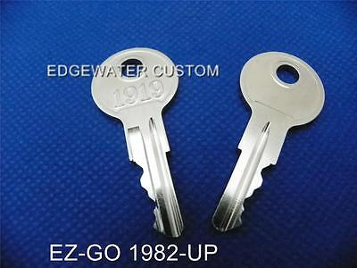 Ez-go Golf Cart Set Of 2 Keys Fits 1982 Up 1919
