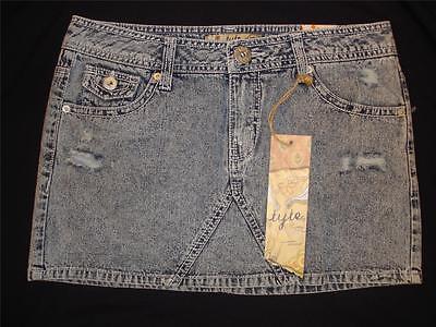Tyte Jeans Destructed Denim Mini Skirt Womens Juniors Size 9